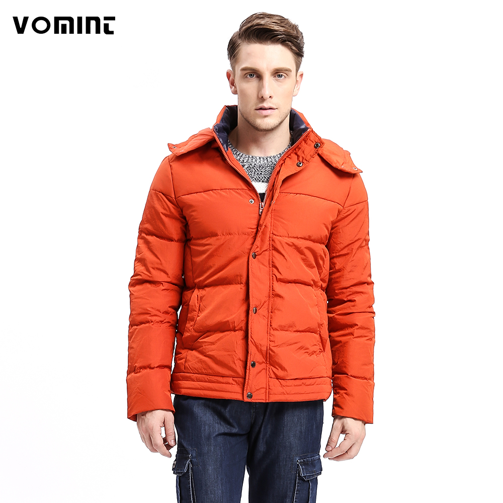 Vomint 2019 Fashion New Men   Down     Coat   Hoodie Jacket 80%   Down   Warm Solid Color Fashion   Down   Multi Pockets F6WI9333