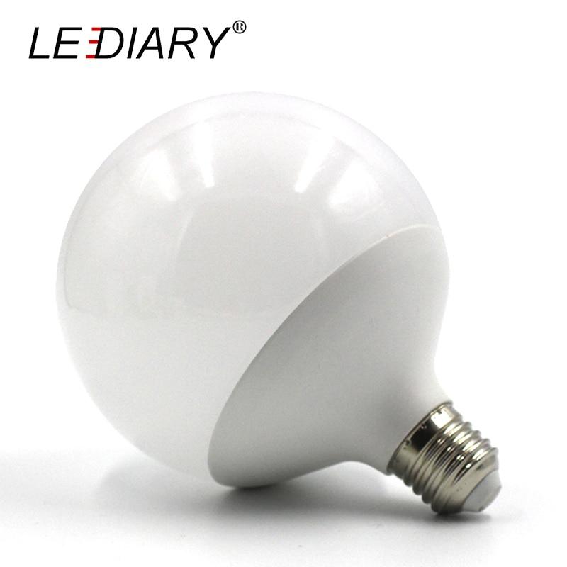 LEDIARY Hot Design G120 E27 LED Bulb Real 20w Power D120mm H155mm Global Light 200V 240V