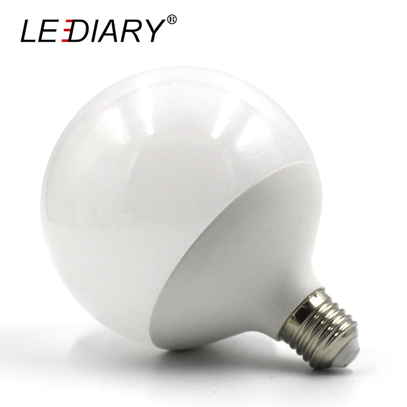 LEDIARY Hot Design G120 E27 LED Bulb Real 20w Power D120mm*H155mm Global <font><b>Light</b></font> 220V-240V Ball <font><b>Light</b></font> for <font><b>Chandelier</b></font> Pendant Lamp