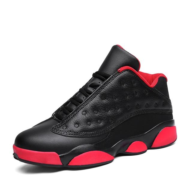 Кроссовки для Для мужчин 2018 новый оригинальный 13 Баскетбол обувь Ретро осень красный черный дышащий Открытый Тренеры пары спортивной обуви