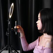лучшая цена Dimmable LED Studio Camera Ring Light Studio Makeup Ring Light Videography Light 30-50cm Tripods Selfie Stick Ring Fill Light
