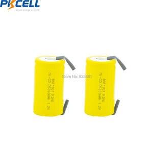 Image 2 - 5 baterias recarregáveis d 1.2 mah 5000 da bateria recarregável de pkcell nicd NI CD v dos pces parte superior lisa com parte da soldadura para a bicicleta elétrica