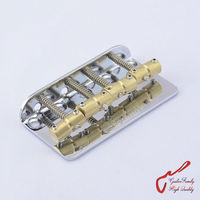 Genuine Original Chrome Wilkinson WBBC Four 4 Strings Electric Bass Bridge With Brass Saddles For Precision