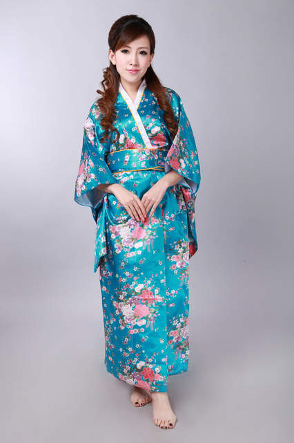 Shanghai Story hot sale Vintage Japanese Style Dress Japan Women s Silk  Satin Kimono Yukata Evening Dress 09f15c5ab00f