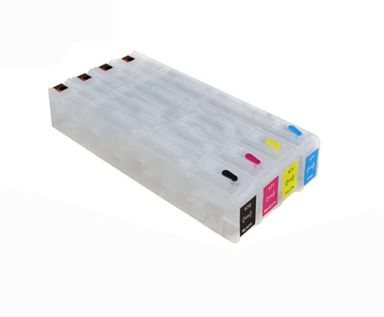 wholesale Compatible H-980 D8J07A - D8J10A Ink Cartridge Use For HP Inkjet Printer original compatible 792 inkjet cartridges for hp latex l26500 printer compatible ink cartridge