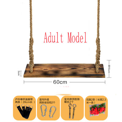 Carbon Wood Swinging Chair Outdoor Furniture Indoor Hanging Hammock For Adult Kids Children