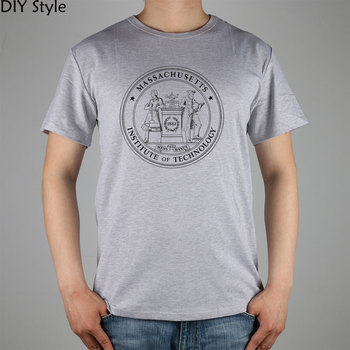 MASSACHUSETTS INSTITUTE OF TECHNOLOGY 1861 PUO SEAL MIT T-shirt Top Lycra Cotton Men T shirt New DIY Style