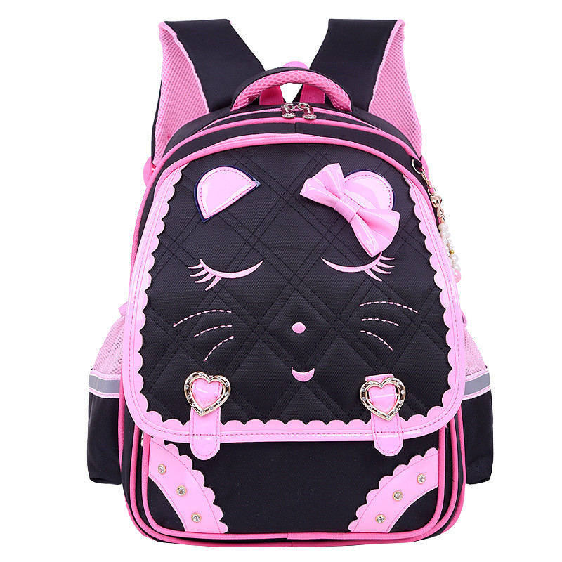 Fashion Sweet Cat Girl's School Bags Waterproof Cartoon Pattern Kid Backpack Schoolbag Children School Backpack Girl Book Bag
