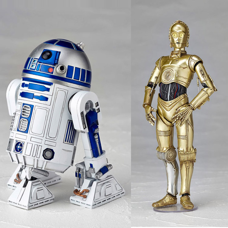 Star wars movable toys genuine revoltech 004 robot r2 d2 - Robot blanc star wars ...