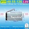 [V111] 3.8V,3.7V,3800mAH,[4055126] Polymer lithium ion / Li-ion battery for power bank,tablet pc,cell phone,speaker,mp4,gps