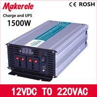 MKP1500 122 C 1500w UPS Power Inverter 12v 220v Off Grid Pure Sine Wave Solar Inverter