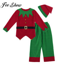 0df57c29b6115 Mens Long Sleeves Christmas Santa Claus Costume Male Top with Pants Set for  Xmas Cosplay Fancy Party Costume Holiday Outfit