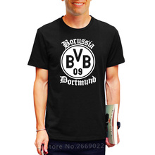 2017 Free Shipping BVB Borussia Dortmund Footballs Mens Men T Shirt T-shirt Novelty Short Sleeve O Neck Cotton Tshirt Tee