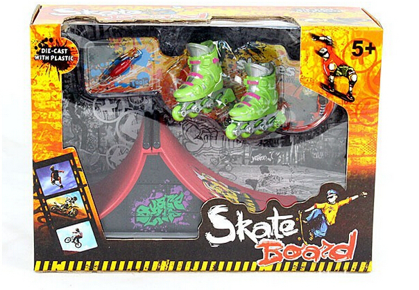 Diapasón finger skate skate zapatos de patinaje polea originalidad novela juguete intelectual Tech Patinetas Rampa Doble Cubierta juguetes