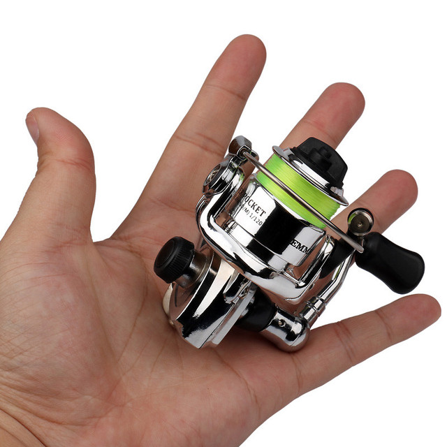 Emmrod hot mini100 pocket spinning fishing reel alloy for Mini fishing reel