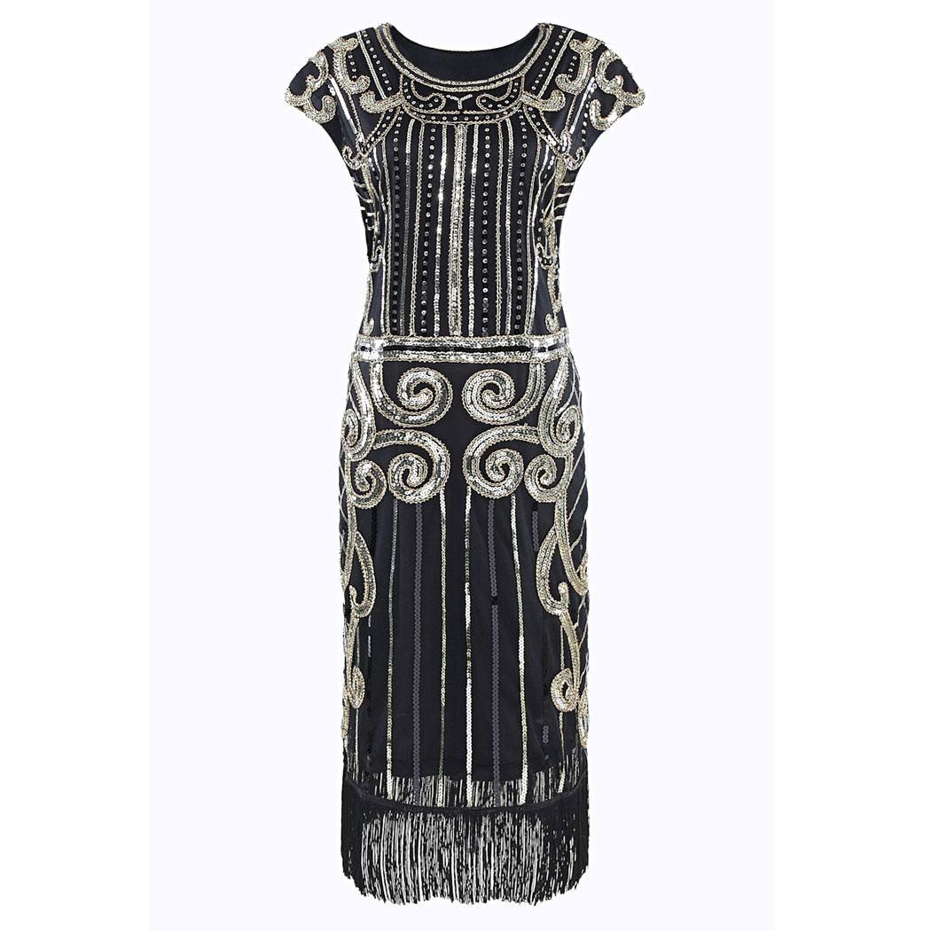 Sequined Dress Women Party Dress Fashion Sleeveless Fringe Trim O Neck High Waist Tasseled Sexy Pencil Summer Vestidos Plus Size