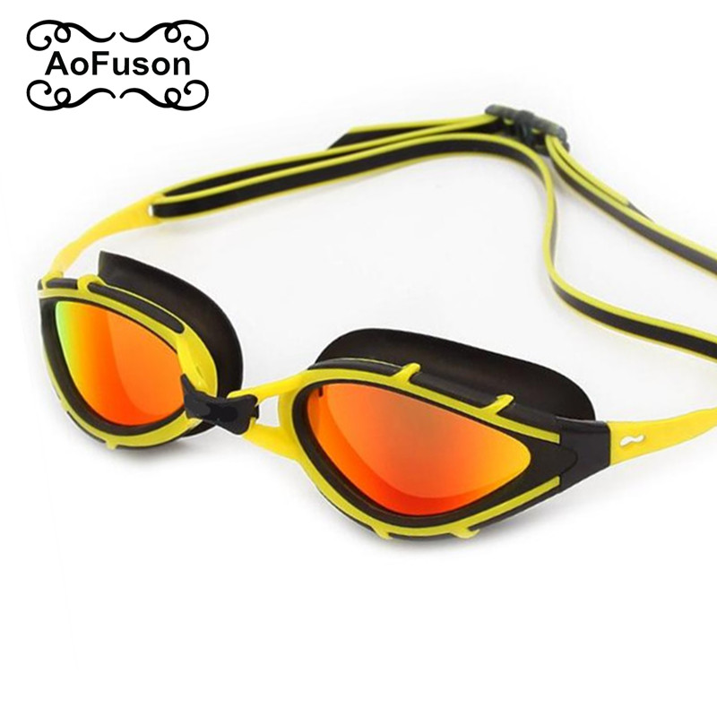 Brand Polarized swim goggles Adults Waterproof uv anti fog silicone water pool professional swimming glasses gafas women&men
