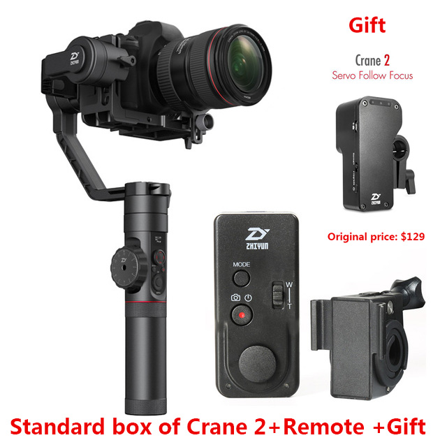 Zhiyun Crane 2 3-Axis Handheld Gimbal Gift Servo Follow Focus Stabilizer for Nikon D850 Canon 5D Mark Sony Panasonic DSLR Camera цена