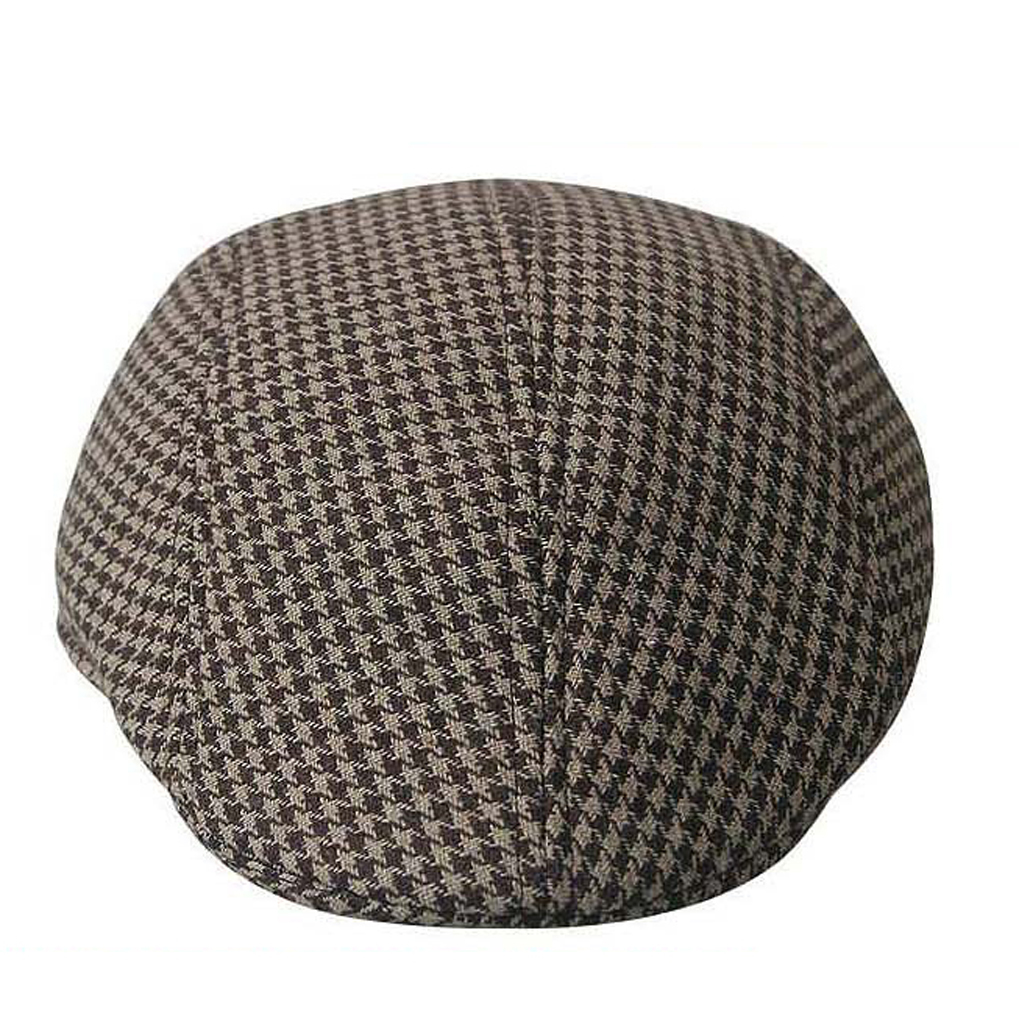 e2d35ec4360 Kids Children Boys Beret Tweed Flat Cap Houndstooth Country Newsboy Baker  Hats-in Hats   Caps from Mother   Kids on Aliexpress.com