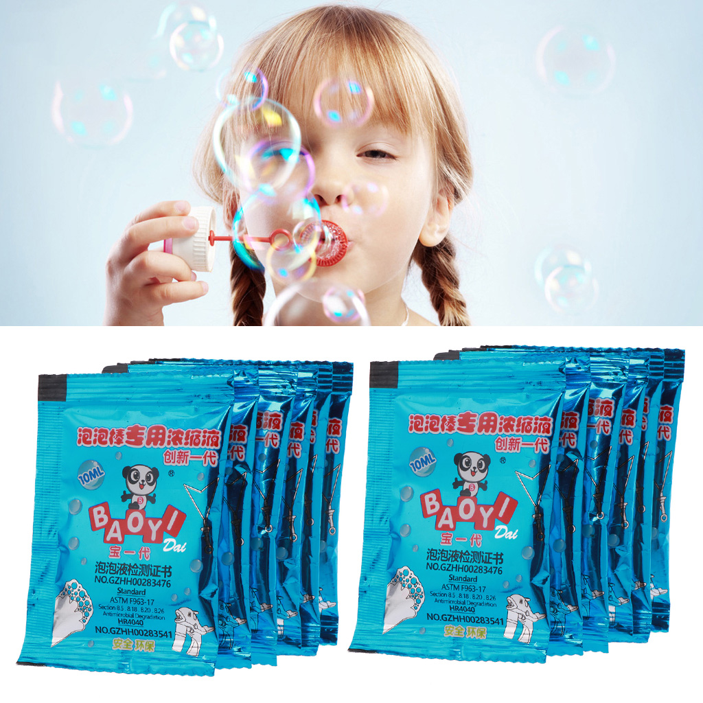 10pcs Bubble Liquid 100ml Concentrate Bubbles Liquid Soap Water Bubble Gun Accessories Bubble Water