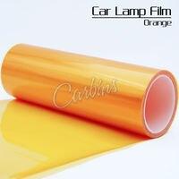Glossy Oranje auto koplamp tint film bescherming folie 0.3*10 m een roll voor alle auto lampen restyling decoratie
