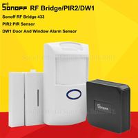 Sonoff RF Bridge 433MHZ Wifi Wireless Signal Converter PIR 2 Sensor/ DW1 Door & Window Alarm Sensor for Smart Home Security Kits Home Automation Modules