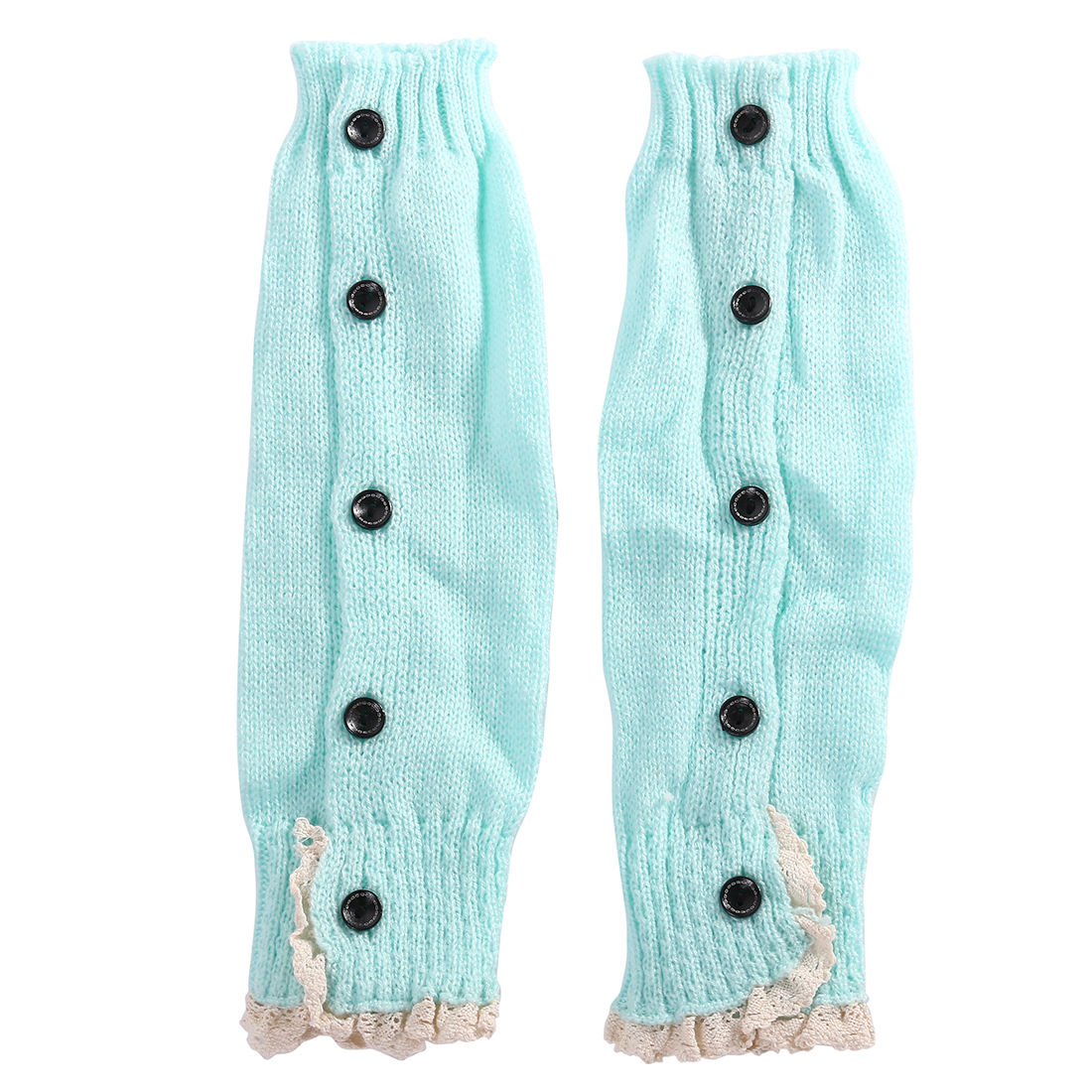 Новинка года; брендовые вязаные гетры в рубчик с кружевными оборками для маленьких девочек и подростков; гетры; 8 цветов - Цвет: Blue