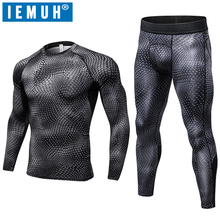 IEMUH 2018 New Winter Thermal Underwear Sets Men Quick Dry Anti-microbial Stretch Men's Thermo Male Long Johns Fitness