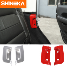 SHINEKA Interior Mouldings Rear Door Lock Decoration Cover for Jeep Wrangler JL 2018