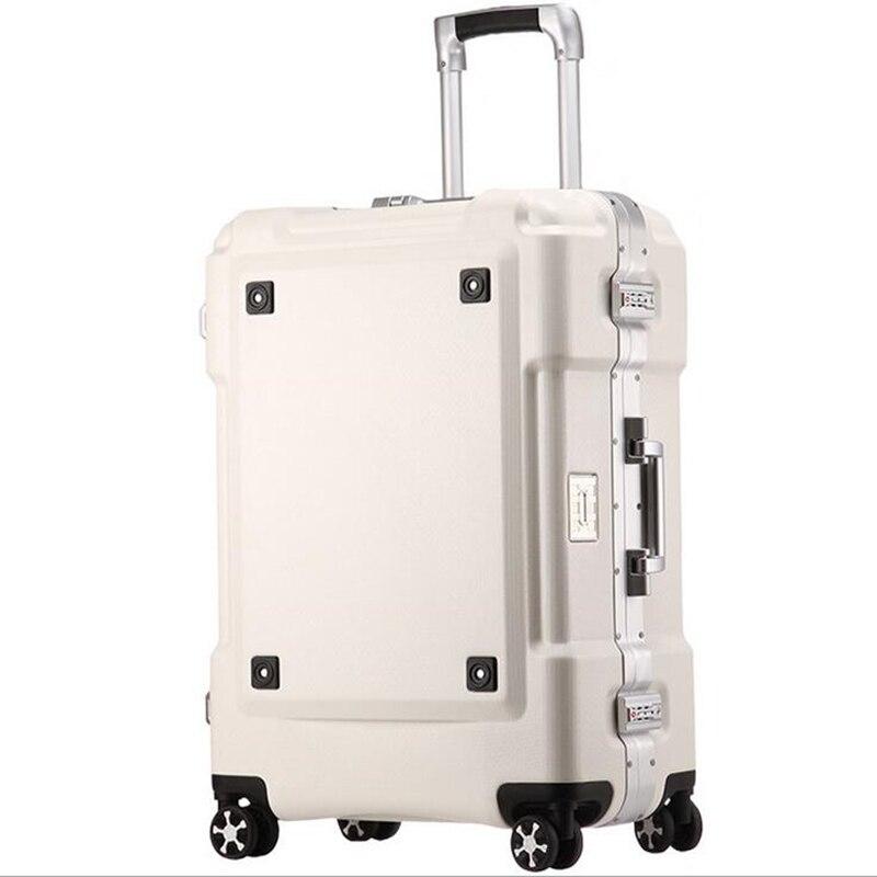 """20 """"24"""" Ll Aluminium Gepäck Hardside Roll Trolley Gepäck Reise Koffer 20 Tragen Auf Gepäck AusgewäHltes Material"""