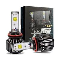 Car led headlamp H7 H8 H9 H11 9005 9006 CREEs 40W V16 Turbo led lamp auto 4000LM 3600lm LED head work light Headlight Kit Auto