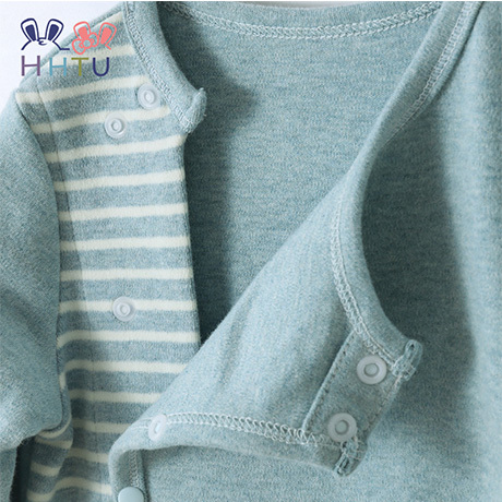 HHTU Baby Striped Rompers Boys Girls Cotton Newborn Infant Jumpers Kids Long Sleeve Outfits Clothes Baby Costumes Soft