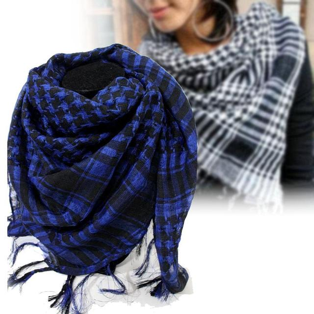c4cfed9e2ee US $3.69 28% OFF|Military Windproof Winter Scarf Men Muslim Hijab Thin  Shemagh Tactical Shawl Arabic Keffiyeh Scarves Cotton Fashion Blue R-in  Men's ...