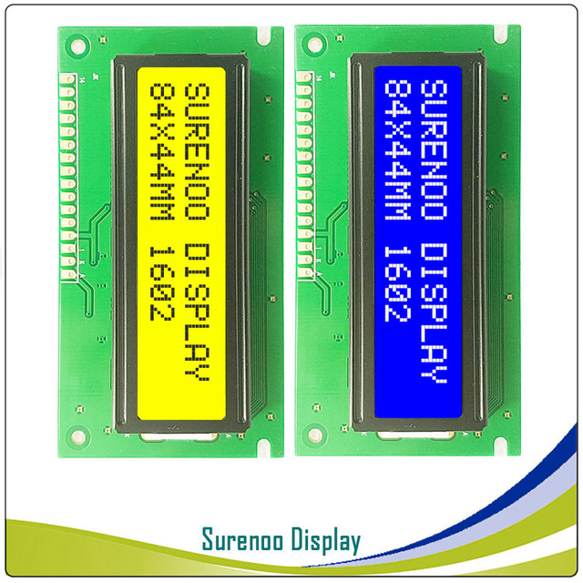 Размер печатной платы: 84*44 мм 162 1602 16X2 символ синий ЖК модуль экран дисплея LCM Bulid-in SPLC780D wth подсветка