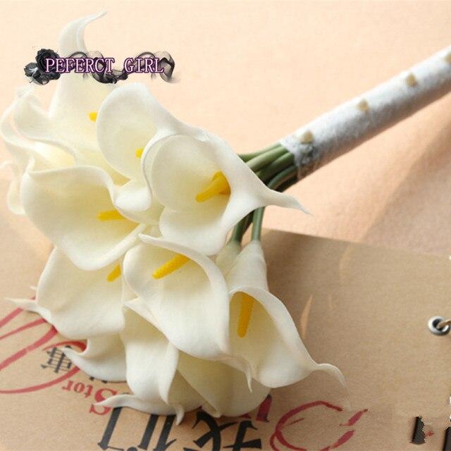 Yellow Purple Blue Pink Orange White Calla Wedding Bridal Bouquet  bouquet holder Bridesmaid Photography Props bouquet mariage