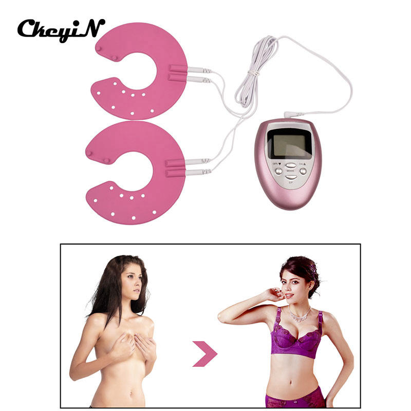 Electric Slimming Body Pulse Vibrating Massage Silicone Breast Health Care Enhancer Cup Size Enlarger Massager For Women