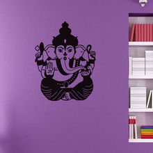 Indian Ganesha Pattern Removable Wall Sticker Vinyl Mural For Home Living Room Art  Decoration Y-523