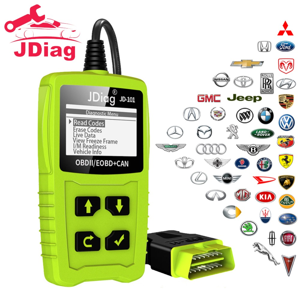 JDiag Universal Car Diagnostic Tool Code Readers Auto Scanner Check Engine Light Diagnostic Tool EOBD Scanner with Battery Test kaiser s 6086 xlw