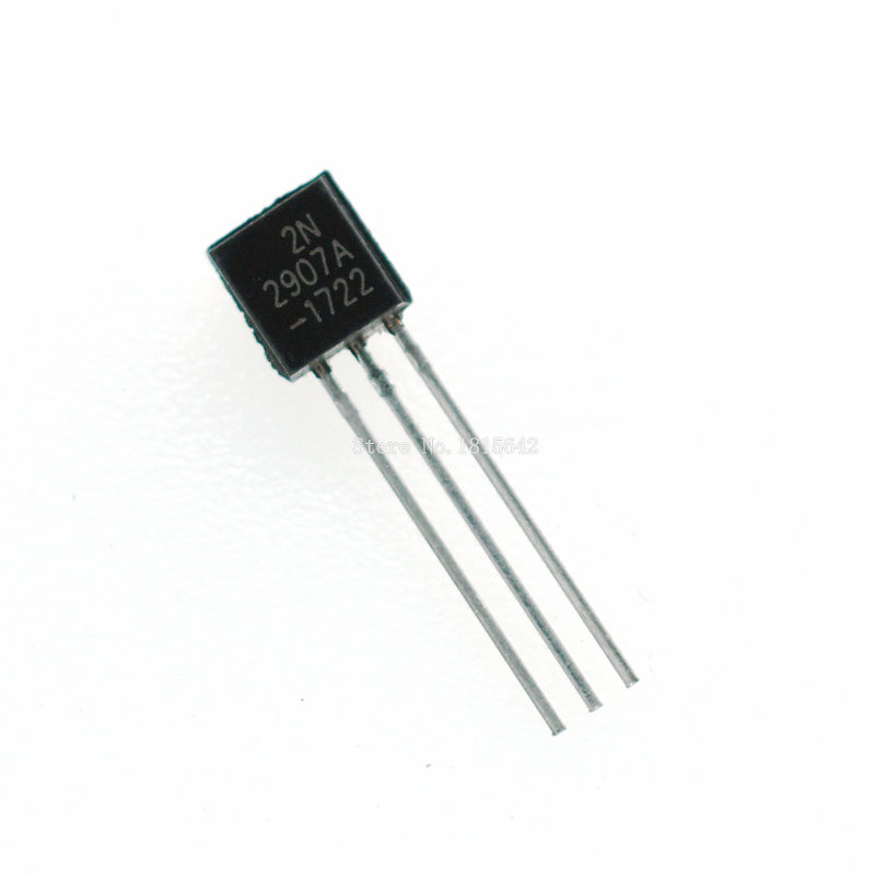 100PCS/LOT 2N2907A Triode Transistor PNP SILICON PLANAR TRANSISTORS TO-92 0.8A 60V PNP 2N2907