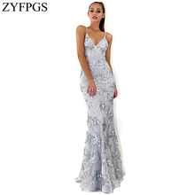 ZYFPGS 2019 Top New Ladies Long Dress Flower Embroidery Womans Casual Beauty Fashion Cotton Slim Classic Sales Z1231