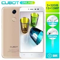 Cubot Note Plus 5.2 Inch FHD Smartphone Quad Core 3GB + 32GB ROM Cam 16MP Android 7.0 Back Fingerprint ID 2800 mAh Mobile phone