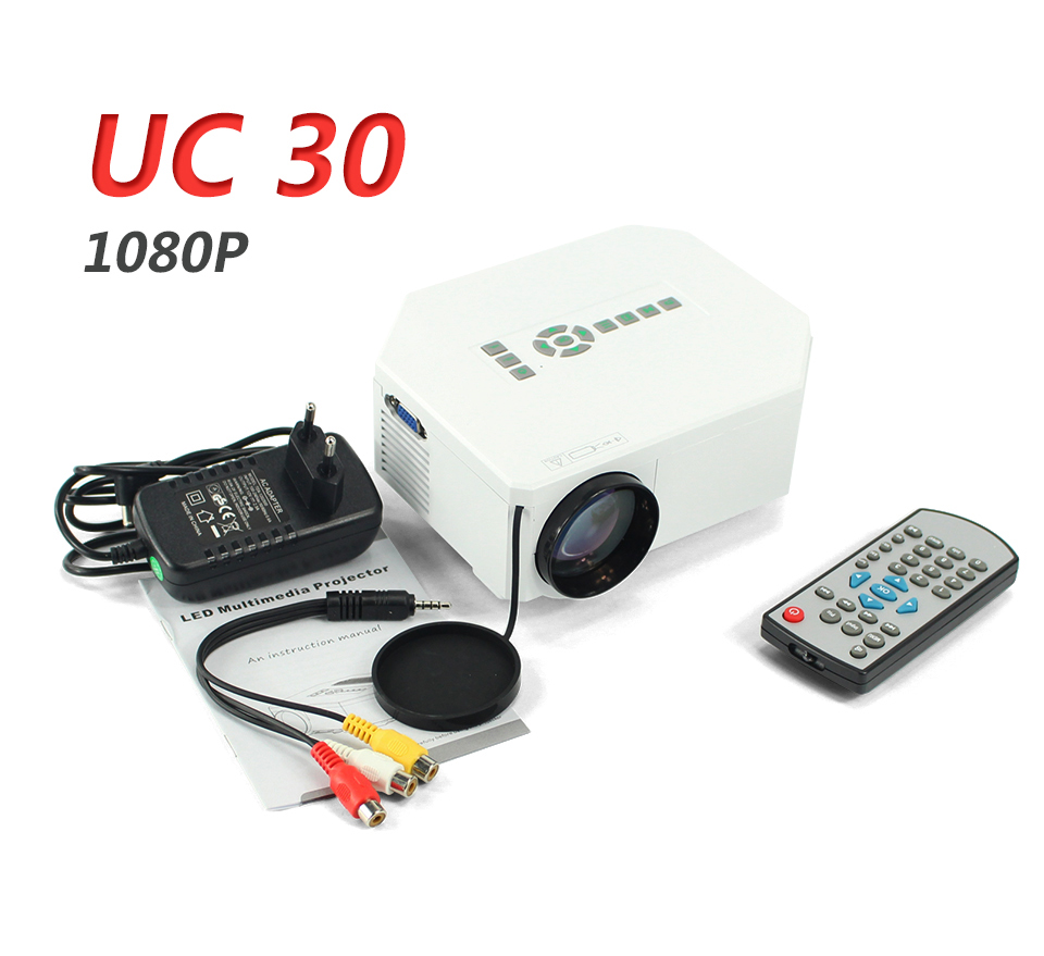 UC30 Mini Projector Full Hd 1080p Home Cinema Beamer Portable Projetor Projektor For Video Games TV Support HDMI VGA AV SD 6767