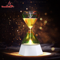 Fashion romantic night light LED smart diamond hourglass lamp colorful color indoor lighting antique style decorative lights L23