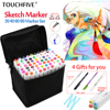 Touchfive 30 40 60 80Colors Art Marker Set Oily Alcoholic Dual Headed Artist Sketch Copic Markers