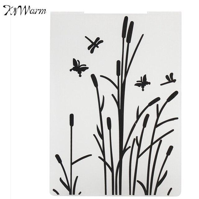 Kiwarm mariposa planta plástico sellado Relieves de papel carpeta ...