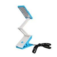 Flexible 24 LED Lamp Beads Night Desk Light Rechargeable Emergency Table Lamp For Work Study Bedroom