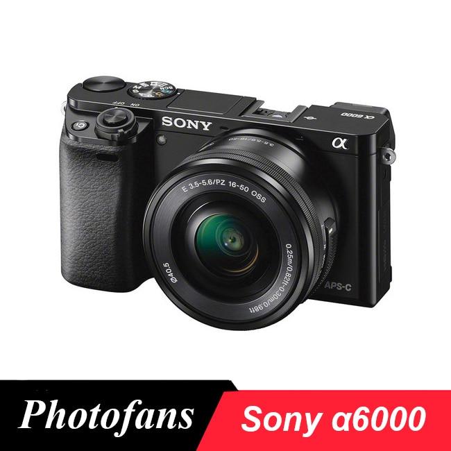 Sony A6000 Mirrorless Fotocamera Digitale ILCE-6000L con 16-50mm Lens-24.3MP-Full HD Video di Marca Nuovo