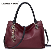 Laorentou 100% Genuine Cow Leather Luxury Handbag With Hollow Accessories Crossbody Bags For Women Real Leather Tote Bag N48