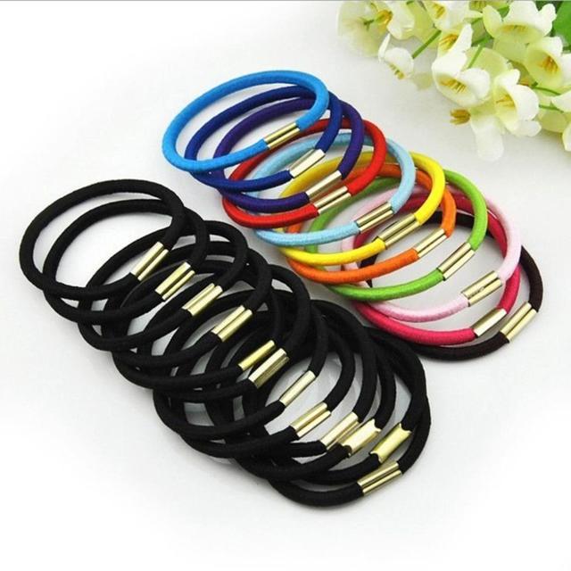 Brand New BLACK Girls elastic hair ties hair band rope ponytail Holder  bracelets scrunchie f089d9f42da