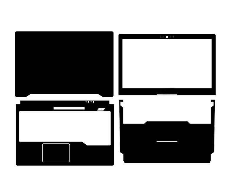 """Protecteur de couverture de peau d'autocollant en cuir de fibre de carbone d'ordinateur portable de KH pour le nouveau ASUS ROG FX503 FX503VM FX503VD 15.6"""""""